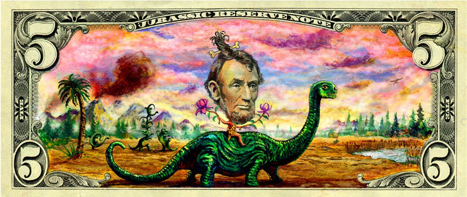 5$ Art. Stage 1: Abe on Dinosaur