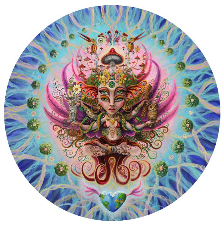 Visionary Art Psychedelic Mandala